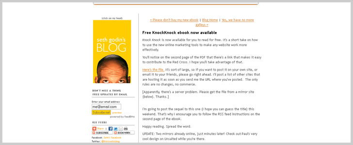 KnockKnock: Seth Godin's Incomplete Guide to Building a Web Site that Works