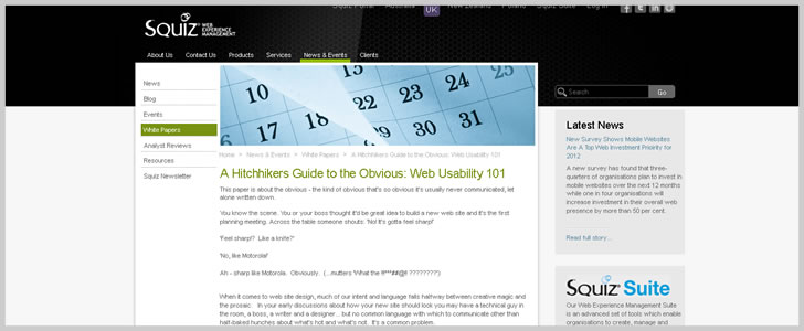 A Hitchhikers Guide to the Obvious: Web Usability 101