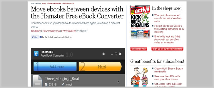 Move ebooks between devices with the Hamster Free eBook Converter - Computeractive downloads