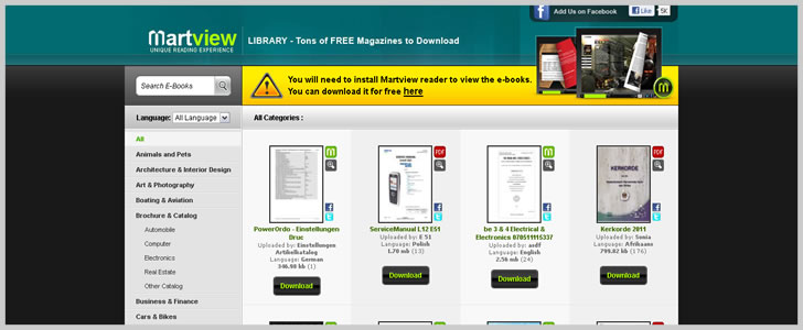 Martview - Tons Of Free Magazine To Download