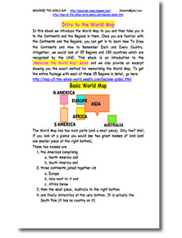Introduction to the World Map by Siddhartha Sinha