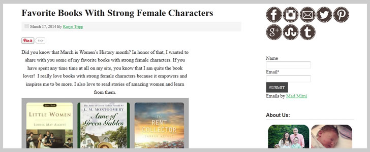 Favorite Books With Strong Female Characters