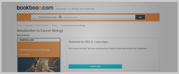 Introduction to Cancer Biology by Momna Hejmadi