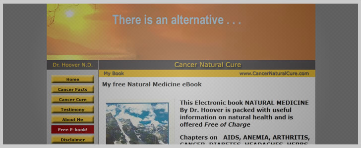 Cancer Natural Cure by Dr. Hoover