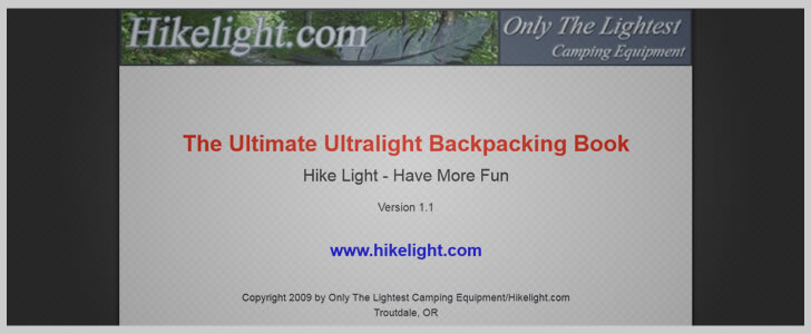 The Ultimate Ultralight Backpacking Book