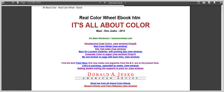 It's All About Color By Donald A. Jusko