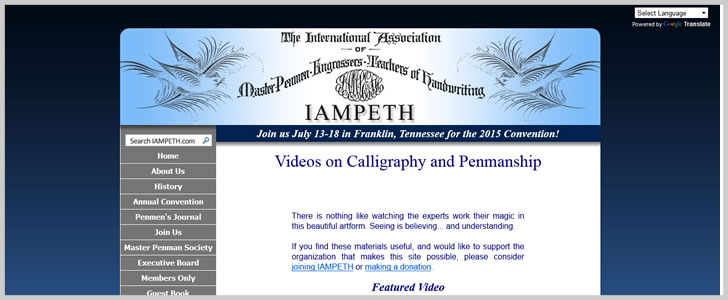 Videos On Calligraphy And Penmanship