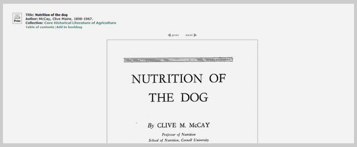 Nutrition of The Dog