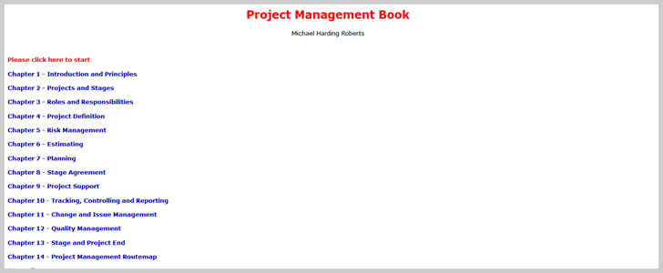 Project Management Book by Michael Harding Roberts