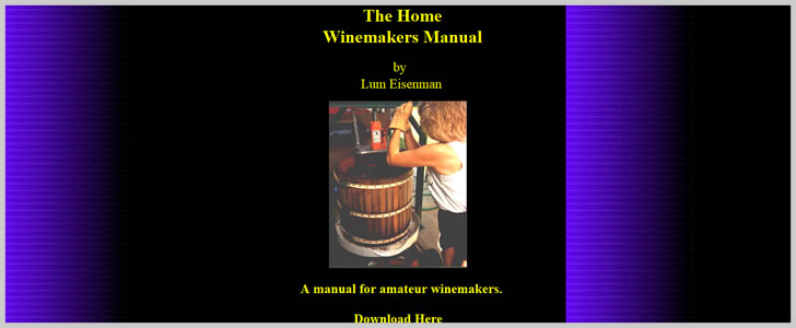 The Home Winemaker's Manual by Lum Eisenman