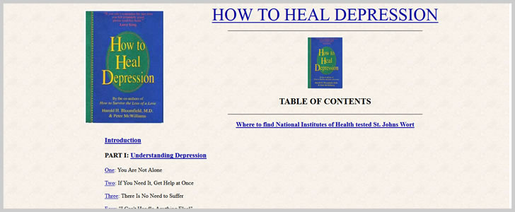 How to Heal Depression by Harold H. Bloomfield, M.D. & Peter McWilliams