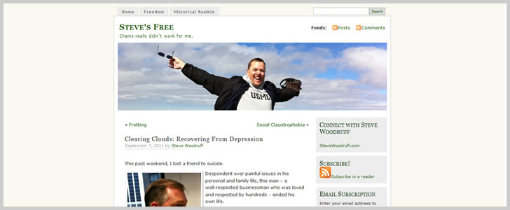 Clearing Clouds: Recovering From Depression by Steve Woodruff