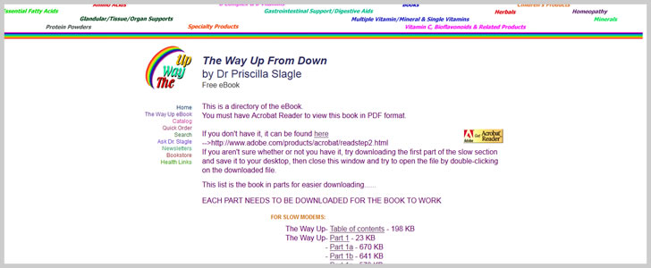The Way Up From Down by Dr Priscilla Slagle
