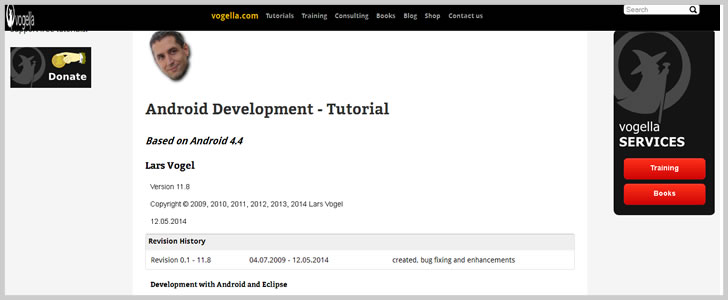 Android Development - Tutorial by Lars Vogel