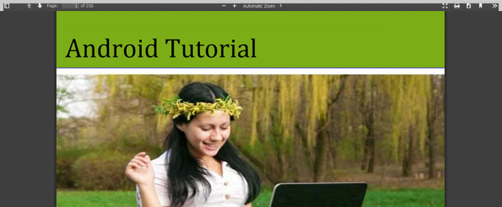 Android Tutorial by TutorialsPoint