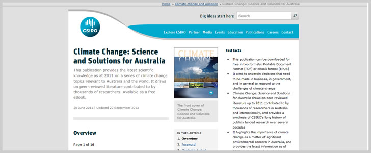 Climate Change: Science and Solutions for Australia