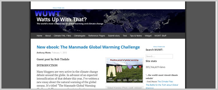 The Manmade Global Warming Challenge by Bob Tisdale