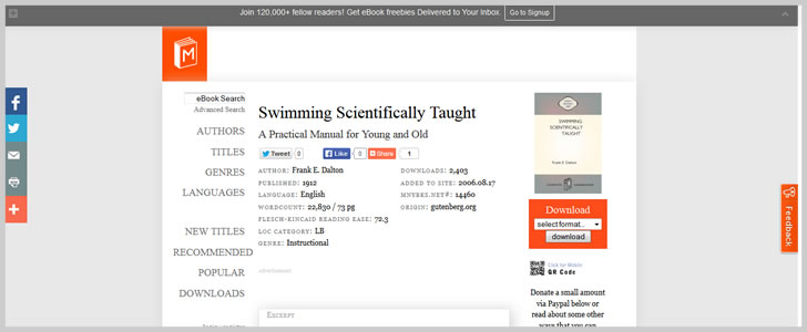 Swimming Scientifically Taught: A Practical Manual for Young and Old by Frank E. Dalton
