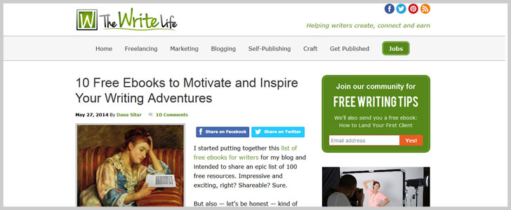 10 Free Ebooks To Motivate And Inspire Your Writing Adventures