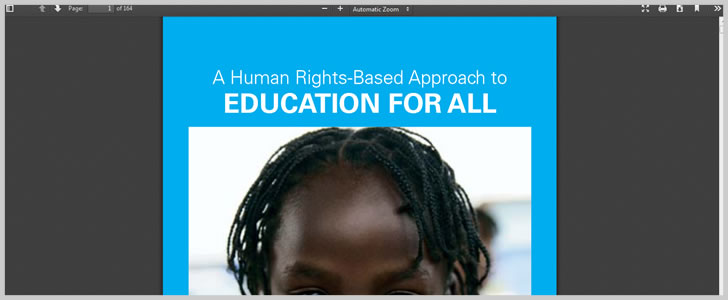 A Human Rights-Based Approach to Education For All by UNICEF