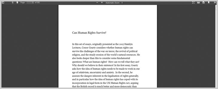 Can Human Rights Survive? by Conor Gearty