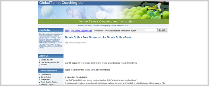 Groundstroke Tennis Drills by GlobalTennisCoaching