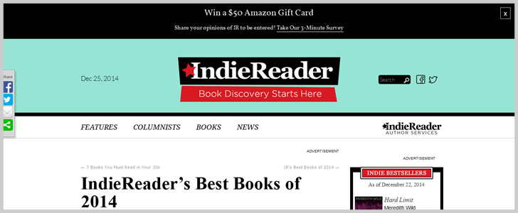 Indiereader's Best Books Of 2014