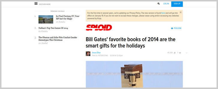 Bill Gates' Favorite Books Of 2014 Are The Smart Gifts For The Holidays