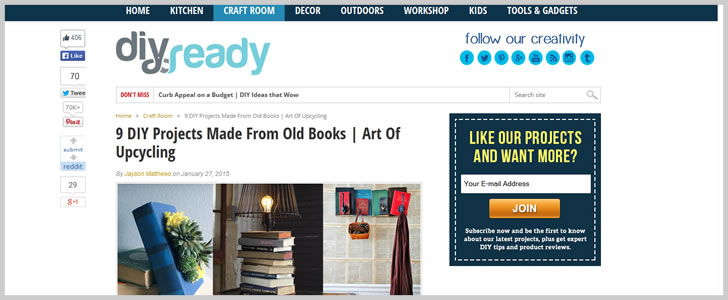 9 Diy Projects Made From Old Books