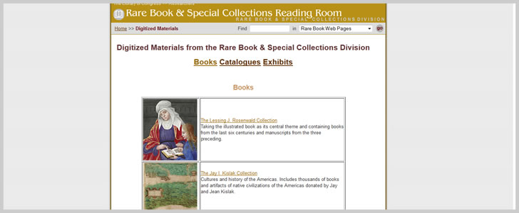 Hundreds of Digitized Materials from the Rare Book & Special Collections Division