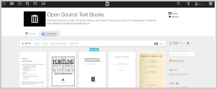 Over 2,000 Free Open Source Text Books