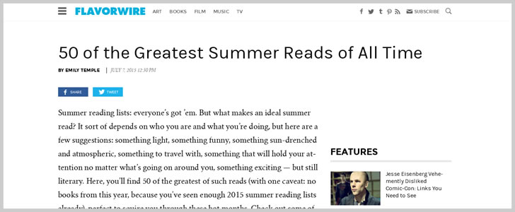 50 of the Greatest Summer Reads of AllTime