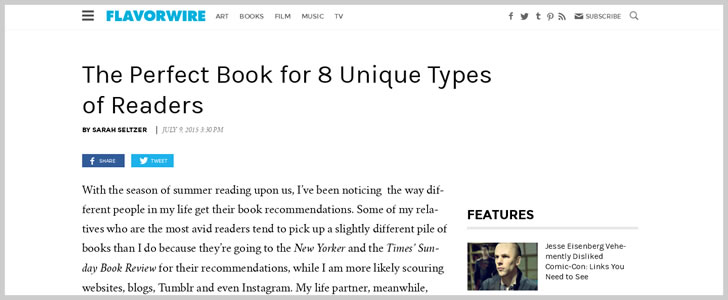 The Perfect Book for 8 Unique Types ofReaders
