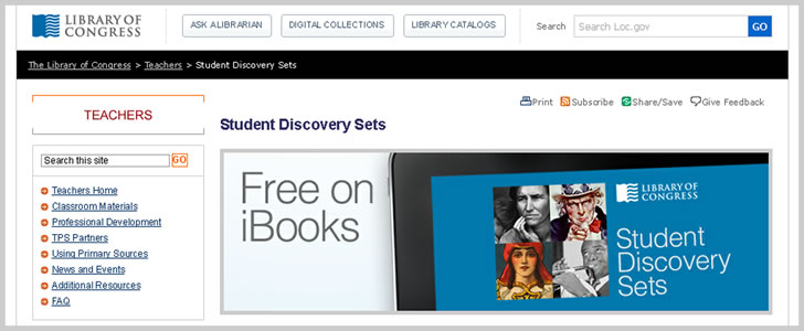 Student Discovery Sets - Free iBooks