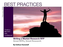Writing a Market Research RFP