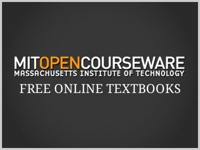 Free Online Textbooks by MIT OpenCourseWare