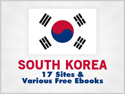 South Korea: 17 Sites & Various Free Ebooks