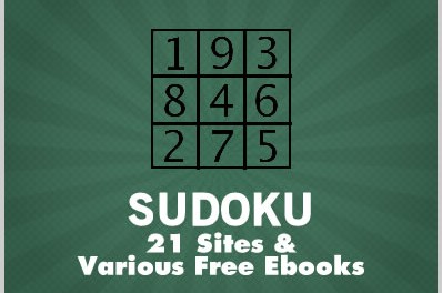 Sudoku: 21 Sites & Various Free Ebooks
