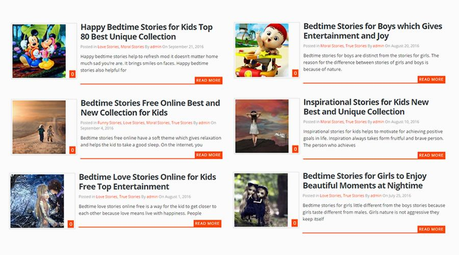 20 Collections of Free Bedtime & Inspirational Stories for Kids