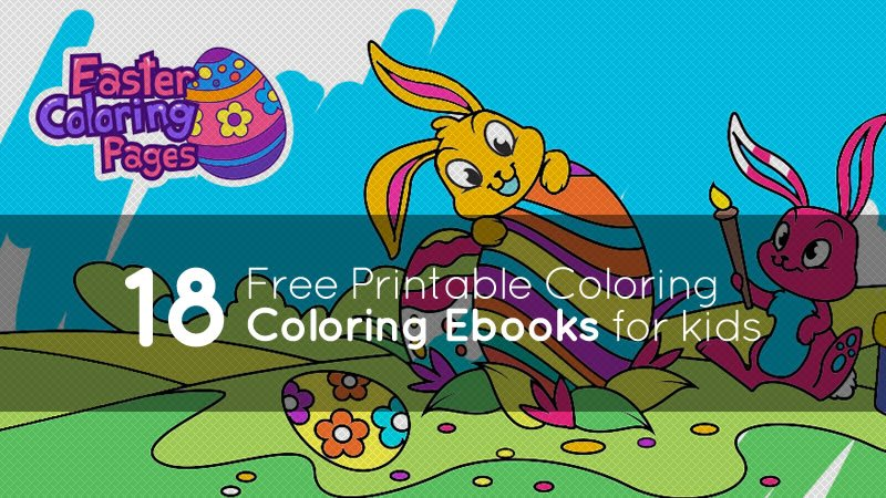 18 Free Printable Coloring Ebooks for Kids