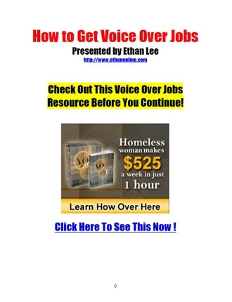 Click here to read / download - How to Get Voice Over Jobs