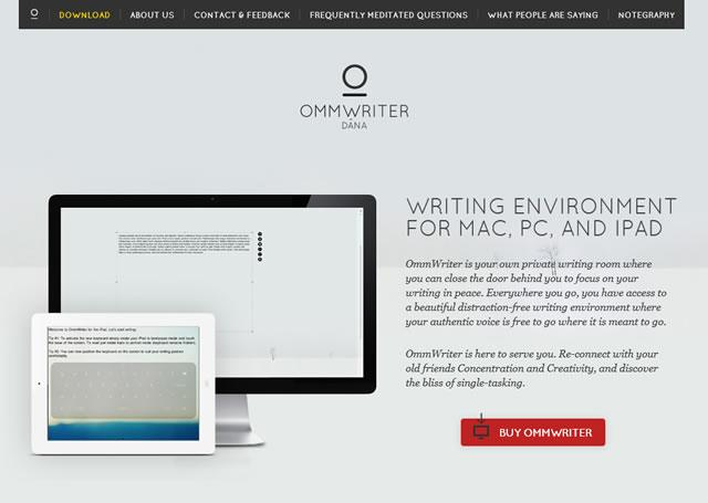 Visit the site - Ommwriter