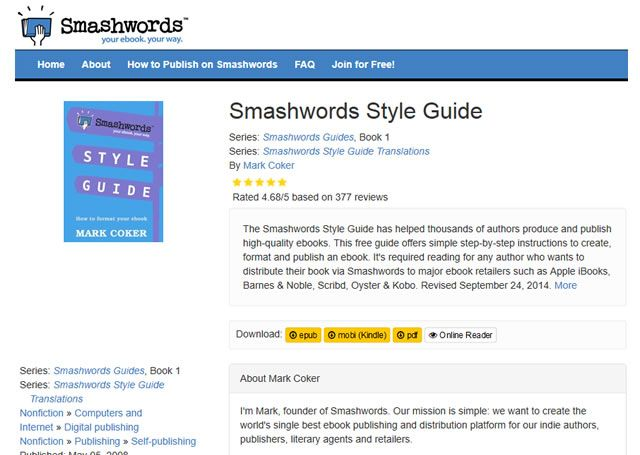 Visit the site - Smashwords Style Guide