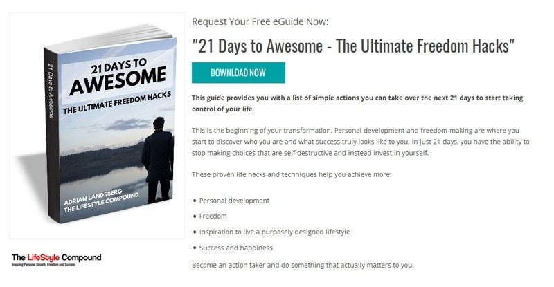 21 Days to Awesome - The Ultimate Freedom Hacks by Adrian Landsberg