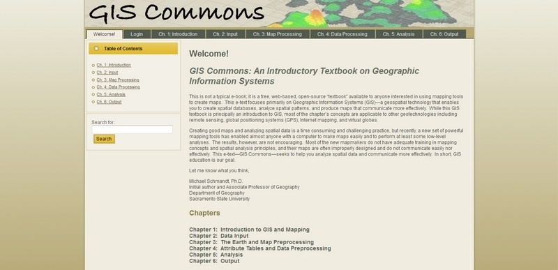 GIS Commons: An Introductory Textbook on Geographic Information Systems by Michael Schmandt, Ph.D.