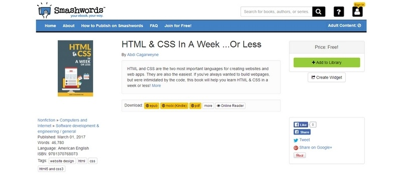 HTML and CSS In A Week ...Or Less  by Abdi Cagarweyne