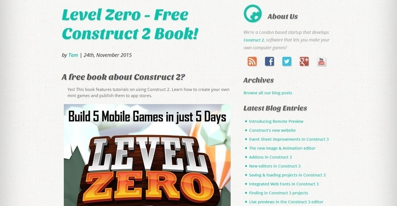 Level Zero - Free Construct 2 Book by Ankur Prasad & Allen Wu