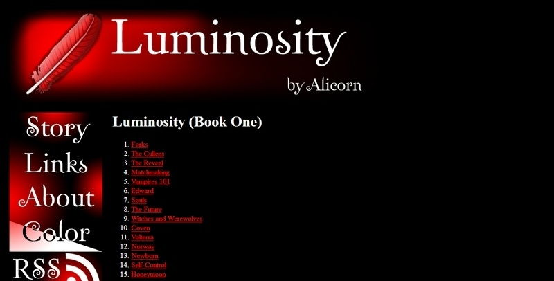 Luminosity - A Twilight Fanfiction Story by Alicorn