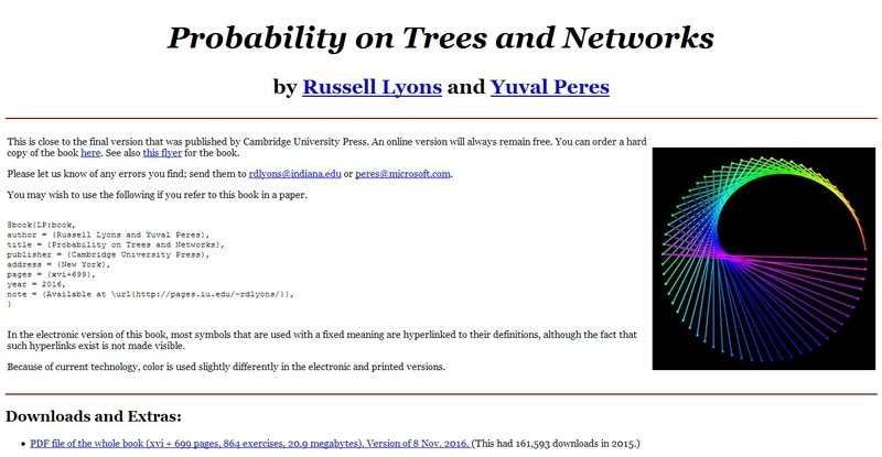 Probability on Trees and Networks by Russell Lyons and Yuval Peres