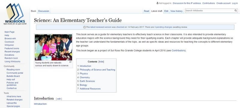 Science: An Elementary Teacher's Guide by Wikibooks.org